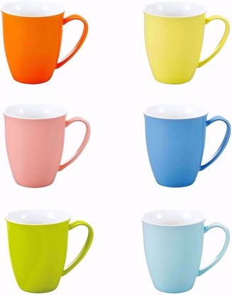 """Picture of Panbado 6 Piece Ceramic Coffee Mugs and Tea Cups for Gift or Daily Use, 4.75"""" (12×8.8×10cm)"""