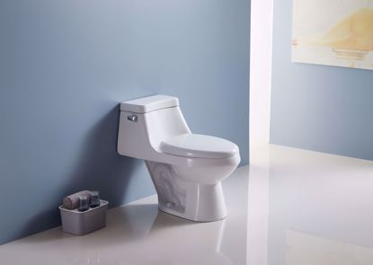 """Picture of 1.28 GPF """"(Water Efficient)"""" Elongated One-Piece toilet (Seat Included)"""